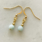 Frosted Amazonite blue dangle earrings, simple, casual, everyday.