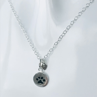 Charity sterling silver dog necklace. 100% of sale being donated to Dogs Trust