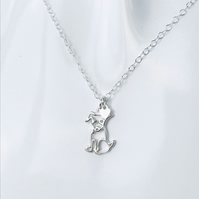 Charity sterling silver dog charm necklace. 100% donated to Dogs Trust