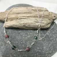 Indian Agate gemstone necklace