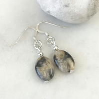 Crazy lace agate semi precious earrings