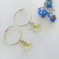 Lemon Quartz Briolette And Gold Filled Hoop Earrings