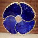 Beautiful poppy-shaped ceramic trivets