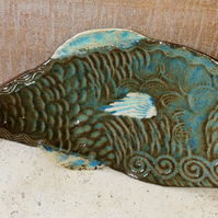 Beautiful fish-shaped concave ceramic dishes