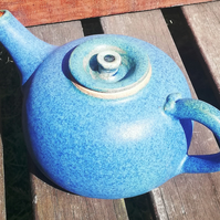 Tactile and beautiful, blue teapot for 2