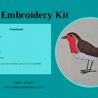 Robin Hand Embroidery Kit