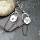 Thames barge padlock earrings