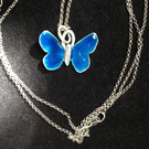Deep Turquoise butterfly pendant