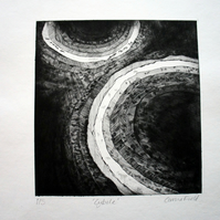 Cybele - A Unique Limited Edition Dry Point Etch Print on Watercolour Paper