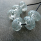 grey frit lampwork glass beads