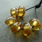 light amber lampwork glass beads