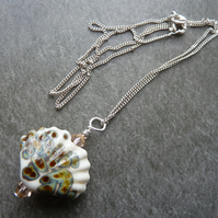 Sterling silver sea shell chain
