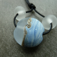 icy sea, lanpwork glass beads