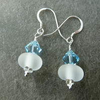 sterling silver and lampwork earrings