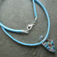 fairy wing glass pendant necklace