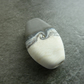 handmade lampwork glass bead, grey and ivory focal