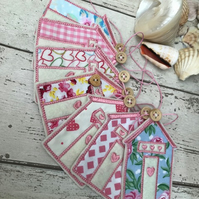 Beach Hut Bunting Pastels Made to order