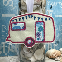 Caravan keepsake decoration with bunting ideal for caravan lover