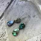 Abalone drop earrings