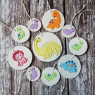 Colourful Dinosaur clay hanging decoration CHOOSE YOUR STYLE