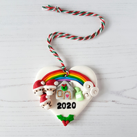 PRE ORDER: Christmas 2020 lockdown themed bauble, decoration OR magnet