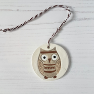 Owl hanging decoration, one supplied