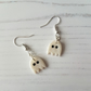 Shimmer ghost drop earrings, Handmade, Halloween