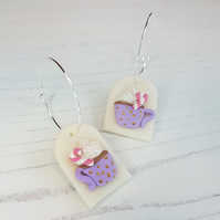 Winter themed statement earrings, limited pairs available