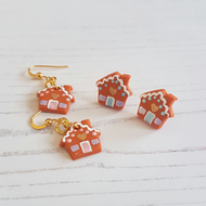 Gingerbread house Modern earrings
