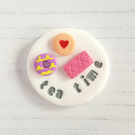 Tea Time cup OR biscuit pocket hug token for Mum Mother's Day