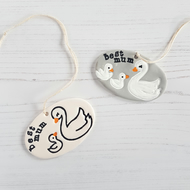 Swan and babies hanging decoration, Mother's Day gift