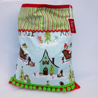 Santa Sack - Winter Wonderland Present Sack - open top