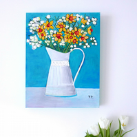 Daffodil Artwork, Still Life Painting, Floral Fine Art, Mother's Day Gift
