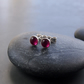 Sterling Silver Stud Earrings with Ruby