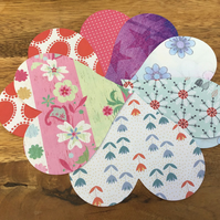 10 Die Cut Large Paper Hearts Scrapbooking Card Making Crafts