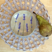 Lavender ceramic dish, Trinket holder with purple, Small dessert dish, 3not