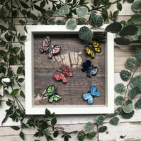 Butterfly Ceramic Picture Frame - Victorian Curiosities