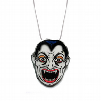 Statement Retro & Scary Vampire Face Necklace by EllyMental