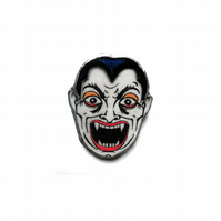 Statement Retro & Scary Vampire Face Brooch by EllyMental