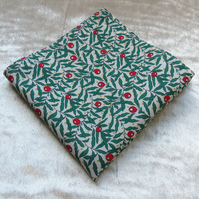 Cotton handkerchief.  A handkerchief made from Liberty Lawn.  Berries design.