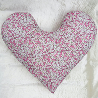 Big heart cardiac pillow.  Chest surgery pillow.  Made from Liberty Lawn.