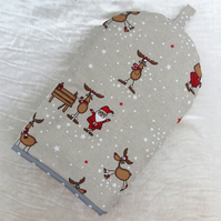 Coffee Cosy.  Festive design.  Size small, to fit a 2 cup cafetiere.  Christmas.
