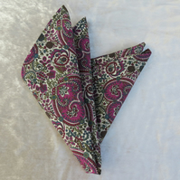 Pocket Square.  Liberty Lawn handkerchief.