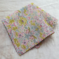 Liberty Lawn handkerchief.  Ladies handkerchief.  Cotton handkerchief.