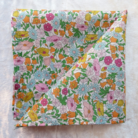 Liberty Lawn handkerchief. Floral design. Cotton handkerchief. Larger size.
