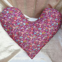Big heart cardiac pillow.  Chest surgery pillow.  Made from Liberty Corduroy.