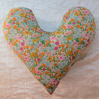 Mastectomy pillow.  Underarm  pillow.  Made from Liberty Lawn. Poppy Forest.