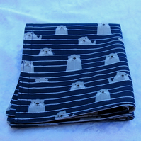 Cotton napkins.  Reversible.  Set of two.  Double sided napkins. Size small.