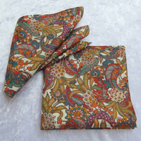Cotton napkins.  Reversible.  Set of two.  Double sided napkins.  Liberty Lawn.