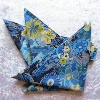 Cotton napkins.  Riviera.  Set of two.  Double sided napkins.  Liberty Lawn.